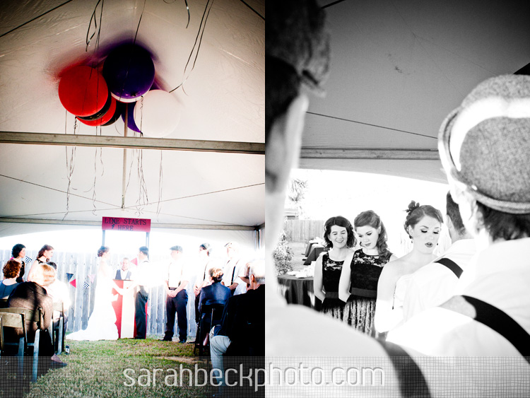 circus wedding ceremony under a big top tent