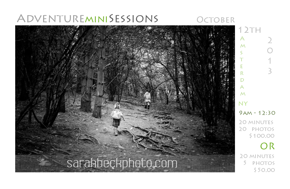 Adventure Mini Sessions $50.00-$100