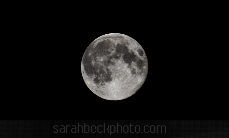 I took this on one of those super moon days.