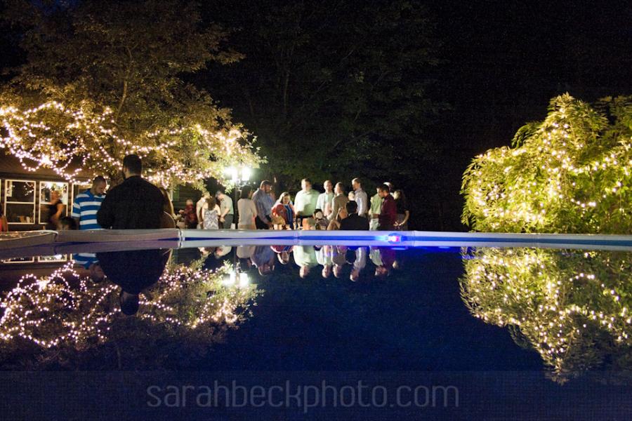 Backyard Poolside Wedding.
