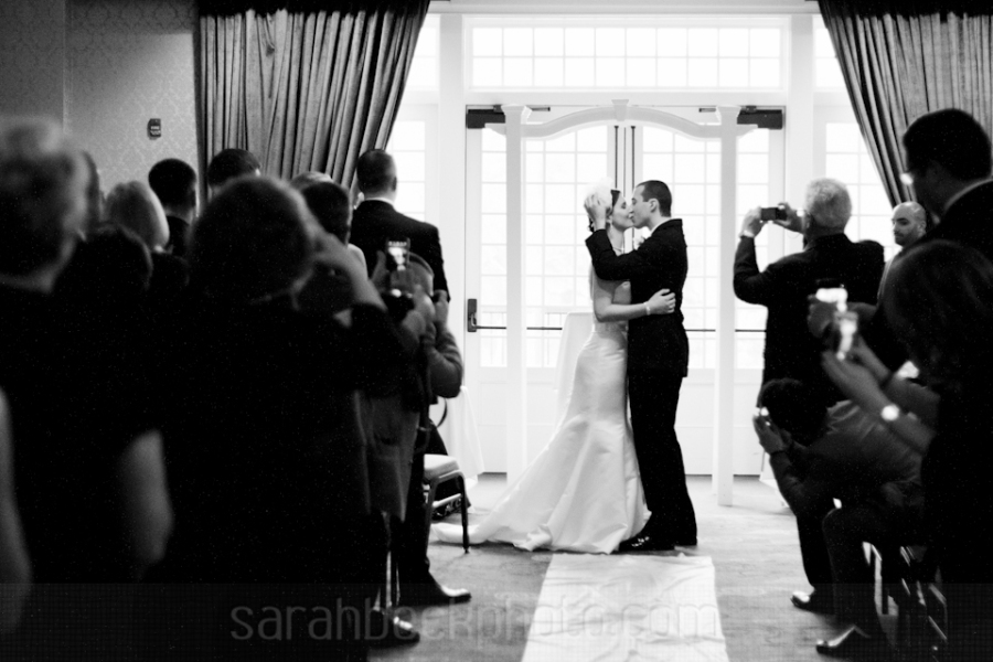 The first wedding kiss of 2014.