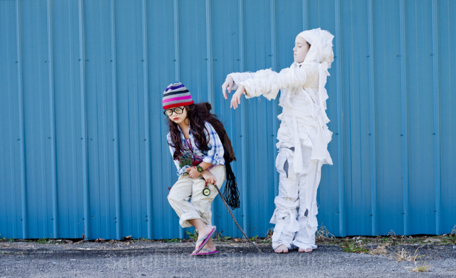 This picture is the best. Adventure Girl reminds me of Bill Murray in the best most awkward way. Maybe it's the hat. Maybe it's the awkward pose, but I see this picture and think Bill Murray getting attacked by a Mummy.